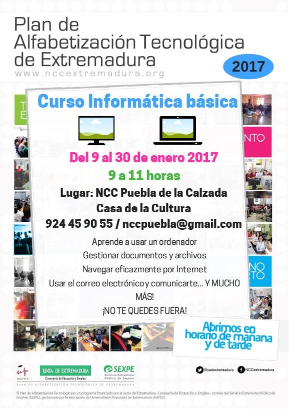 EL NCC IMPARTE TRES CURSOS A PARTIR DEL 9 DE ENERO