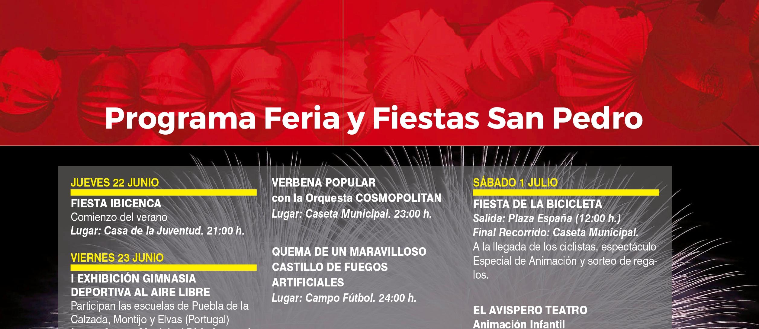 PROGRAMA DE FERIA Y FIESTAS SAN PEDRO 2017