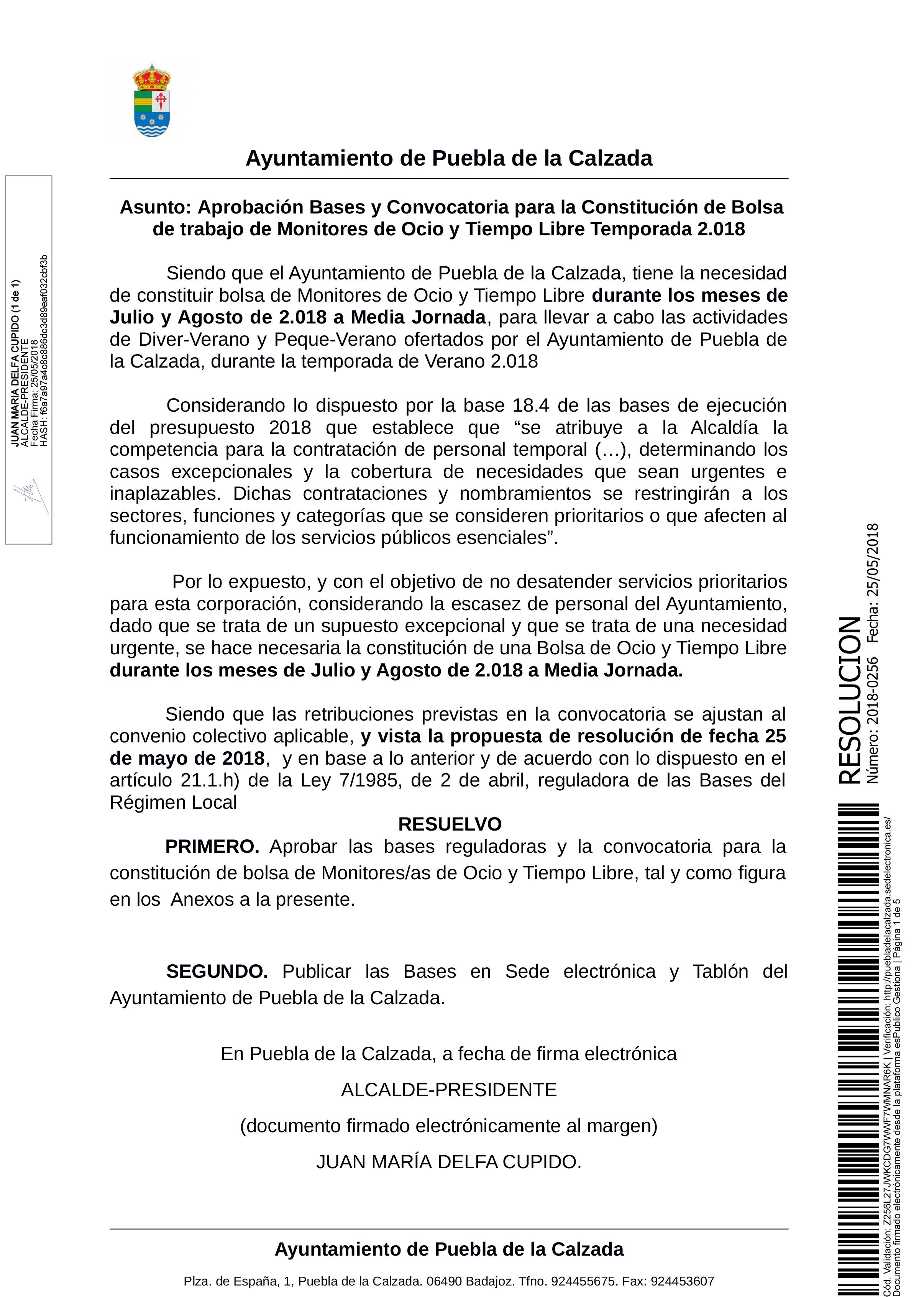 ABIERTO EL PLAZO PARA LA CONSTITUCIÓN DE BOLSA DE TRABAJO DE MONITOR DE OCIO Y TIEMPO LIBRE