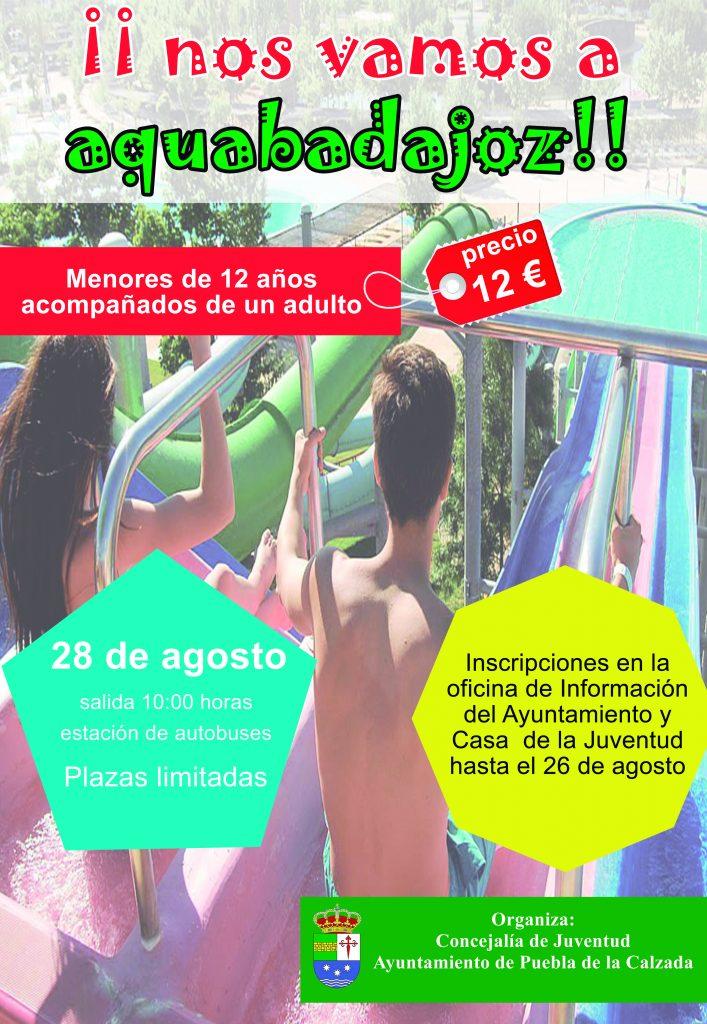 cartel viaje a aquabadajoz 2019