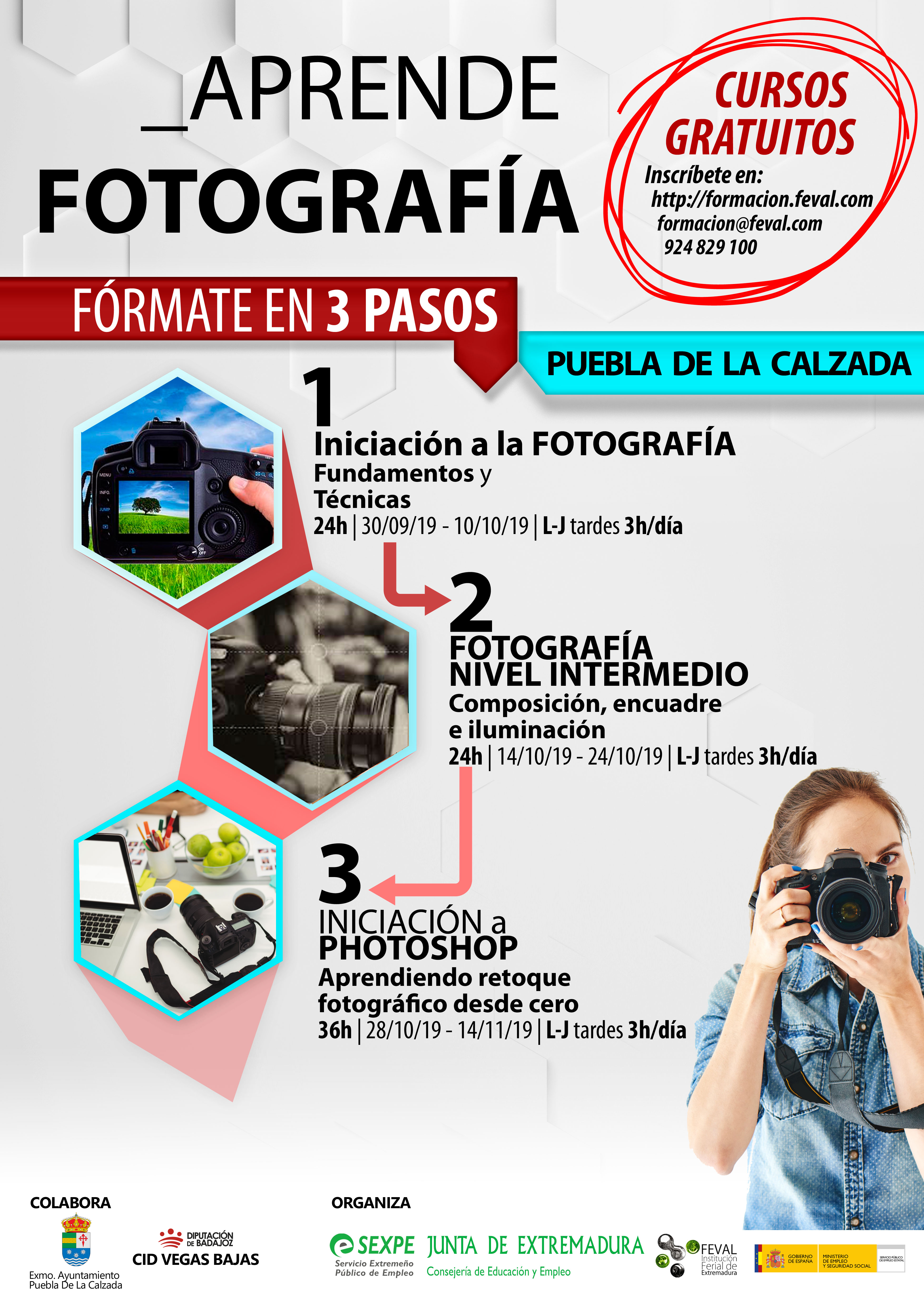 CURSOS GRATUITOS DE FOTOGRAFÍA PARA DESEMPLEADOS
