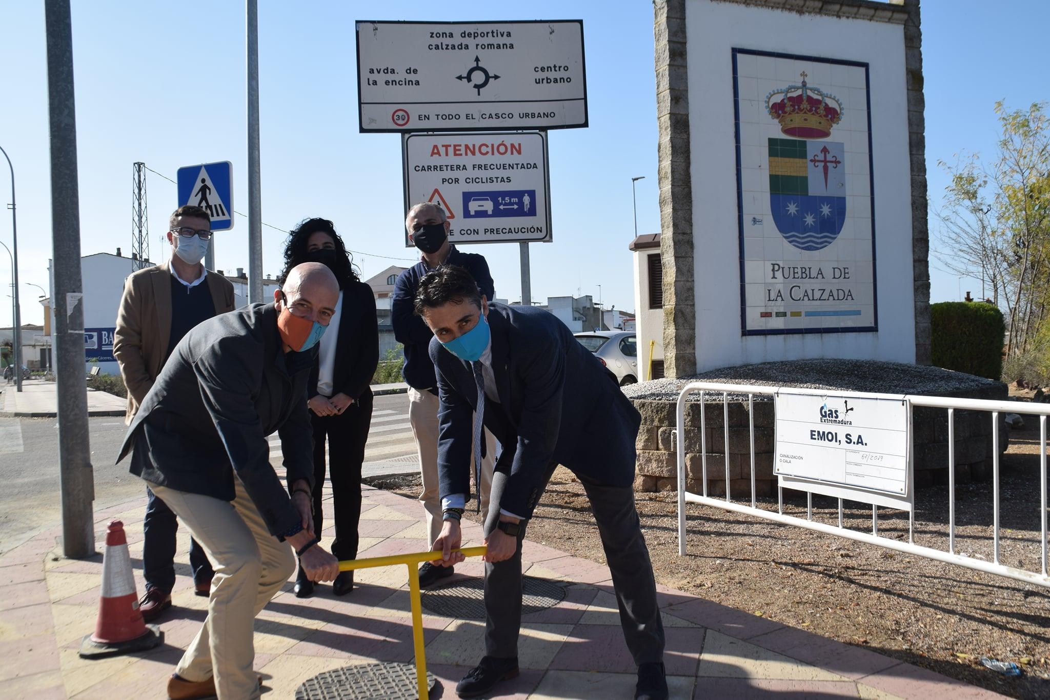 GAS NATURAL COMIENZA A DAR SERVICIO EN PUEBLA DE LA CALZADA